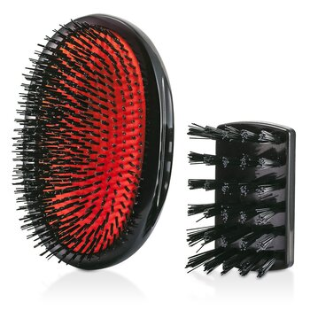 Mason Pearson Boar Bristle - Large Extra Military Pure Bistle Large Size Hair Bush (Dark Ruby)  1pc