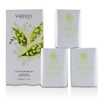 Yardley Lily Of The Valley Jabón Lujoso  3x100g/3.5oz