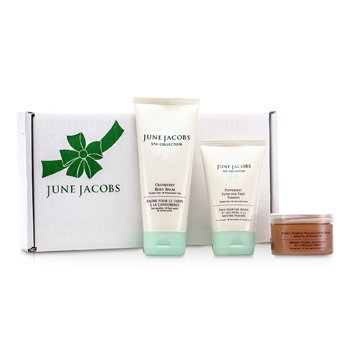 At Home Spa Kit: Peeling Masque + Hand & Foot Therapy + Body Balm  3pcs
