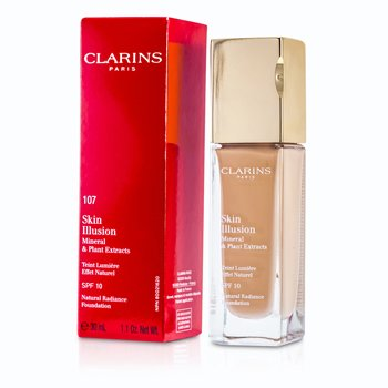 Clarins Skin Illusion Natural Radiance Foundation SPF 10 - # 107 Beige 402671  30ml/1oz