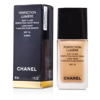 Chanel Base Perfection Lumiere Long Wear Flawless Fluid Make Up SPF 10 - # 30 Beige  30ml/1oz