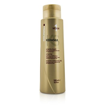 Goldwell Kerasilk Keratin Shape Medium 1 - Long Lasting Transformation (For Hair Like Silk)  500ml/16.9oz
