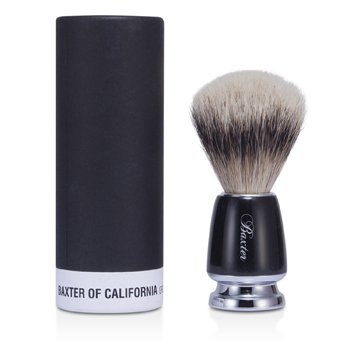 Baxter Badger Hair Shave Brush - Silver Tip (Black)  1pc