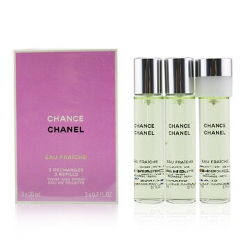 Chanel Chance Eau Fraiche Twist & Semprot Eau De Toilette Isi Ulang  3x20ml/0.7oz