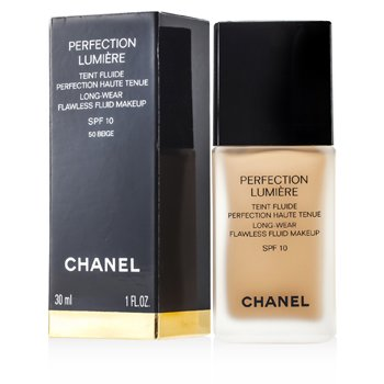 Chanel Perfection Lumiere Long Wear Flawless Fluid Make Up SPF 10 - # 50 Beige  30ml/1oz