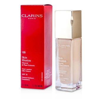 Clarins Skin Illusion Natural Radiance Base de Maquillaje SPF 10 - # 109 Wheat  30ml/1.1oz