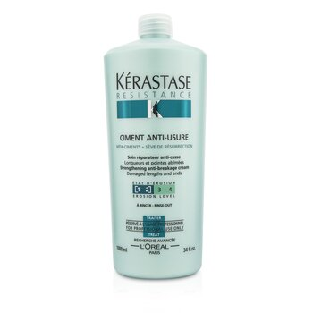 Resistance Ciment Anti-Usure Strengthening Anti-Breakage Cream - Rinse Out (For Damaged Lengths & Ends)  1000ml/34oz