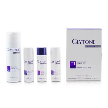 Rejuvenate System Kit: Gel Wash 200ml + Facial Lotion 60ml + Exfoliating Lotion 60ml + Peel Gel 60ml  (Normal to Oily Skin)  4pcs