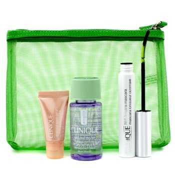 Clinique Alarga & Define: 1x High Lengths M�scara, 1x All About Eyes Suero, 1x Take The Day Off Removedor de Maquillaje, 1x Bolso  3pcs+1bag