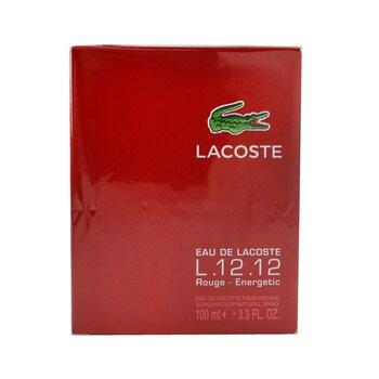 Eau De Lacoste L.12.12 Rouge Eau De Toilette Spray  100ml/3.3oz