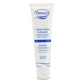 Thalgo Exfoliant Fluid Cream with  AHA & BHA (Face & Hand Care) (Salon Size)  100ml/3.38oz