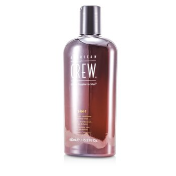 Men 3-IN-1 Shampoo, Conditioner & Body Wash  450ml/15.2oz