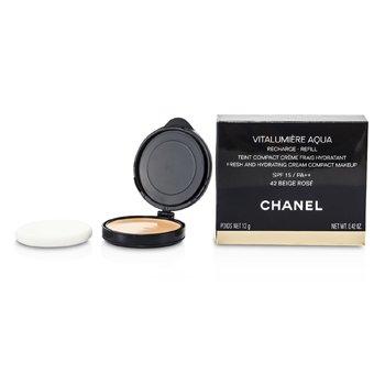 Chanel Pó facial Vitalumiere Aqua Fresh And Hydrating Cream Compact MakeUp SPF 15 Refill - # 42 Beige Rose  12g/0.42oz