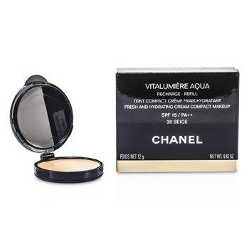 Chanel Nawilżający podkład w kompakcie (wkład)Vitalumiere Aqua Fresh And Hydrating Cream Compact MakeUp SPF 15 Refill - # 30 Beige  12g/0.42oz
