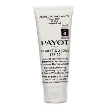 Payot Creme hidratante Absolute Pure White Clarte Du Jour SPF 30 Hydrating Protecting Lightening Creme Diurno (Tamanho Profissional  100ml/3.3oz