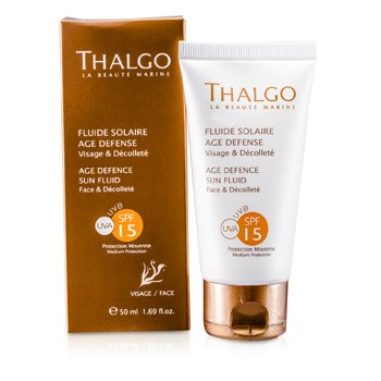 Thalgo Defensa Solar Fluido Rostro y Escote SPF15  50ml/1.69oz