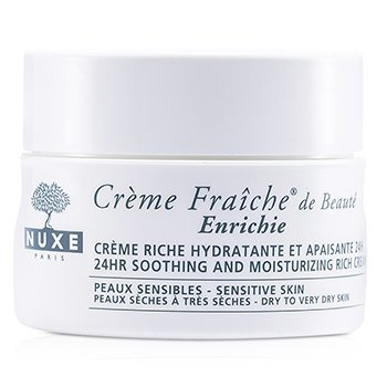 Creme Fraiche De Beaute Enrichie 24HR Soothing And Moisturizing Rich Cream (Dry to Very Dry Sensitive Skin)  50ml/1.7oz