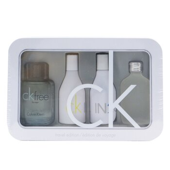 Calvin Klein cestovná sada kazetka: CK One Edt 15ml/0.5oz + CK Free Edt 10ml/0.33oz + IN2U Women Edt 15ml/0.5oz + IN2U Men Edt 15ml/0.5oz  4pcs