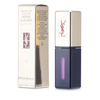 Yves Saint Laurent Rouge Pur Couture Vernis a Levres Brillo Satinado - # 17 Encre Rose  6ml/0.2oz