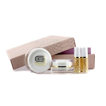 Anti-Age Prestige Kit: Sisleya Global Anti-Age Cream 50ml+Sisleya Eye & Lips Contour Cream 15ml+Sisleya Elixir  5ml x 2  4pcs