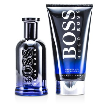 Boss Bottled Night Coffret: Eau De Toilette Spray 100ml/3.3oz + Shower Gel 150ml/5oz  2pcs