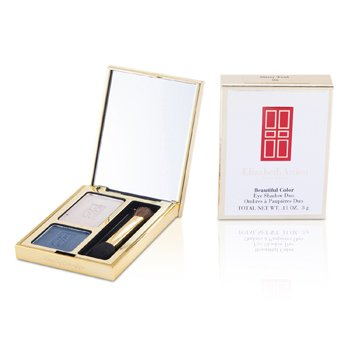 Elizabeth Arden Beautiful Color Eyeshadow Duo - # 06 Misty Teal  3g/0.11oz