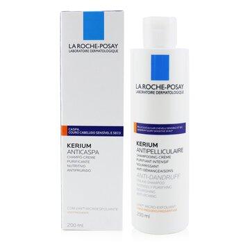 Kerium Anti-Dandruff Cream Shampoo (For Dry Hair or Scalp) 200ml/6.7oz
