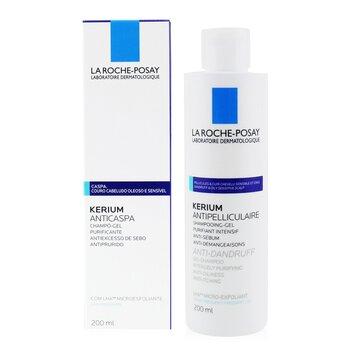 Kerium Gel Champú Anti-Caspa Micro-Exfoliante LHA (Para Cuero Cabelludo Graso)  200ml/6.7oz
