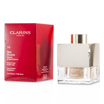 Clarins Skin Illusion Mineral & Plant Extracts Loose Powder Foundation (With Brush) - # 110 Honey  13g/0.4oz