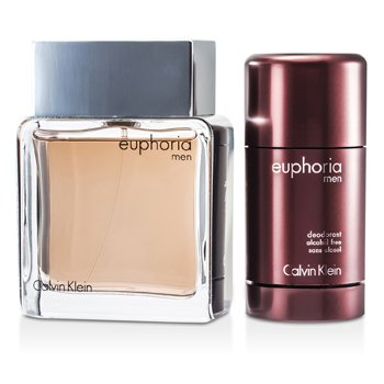 Euphoria Travel Edition Coffret: Eau De Toilette Spray 100ml/3.4oz + Deodorant Stick 75g/2.6oz  2pcs