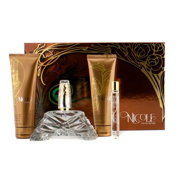 Estuche Nicole: Eau De Parfum Spray 100ml/3.4oz + Loción Corporal 100ml/3.4oz + Gel de Ducha 100ml/3.4oz + Eau De Parfum Roller Ball 10ml/0.34oz  4pcs