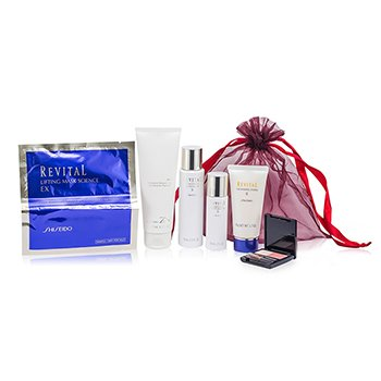 Revital Set: Perfumed Shower Gel + Whitening Moisturizer EX II + Cleansing Foam II + Whitening Moisturizer EX II + Lifting Mask Science EX + Maquillage  6pcs