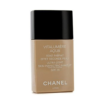 Chanel Base liquida Vitalumiere Aqua Ultra Light Skin Perfecting Make Up SPF15 - # 10 Beige  30ml/1oz