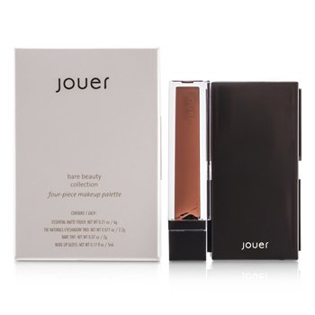 Jouer Colección Bare Beauty : 1x Matte Touch, 1x Sombra de Ojos Trío, 1x Bare Tinte, 1x Gloss Labial  4pcs