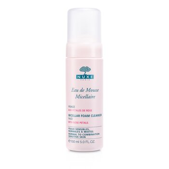 Nuxe Micellar Foam Cleanser With Rose Petals (Normal to Combination, Sensitive Skin)  150ml/5oz