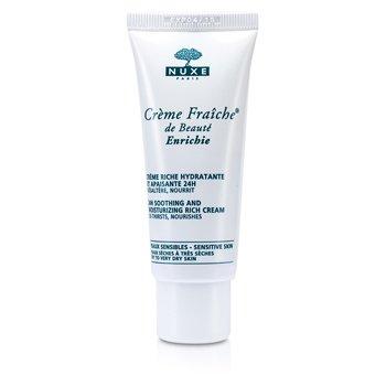 Creme Fraiche De Beaute Enrichie 24HR Soothing And Moisturizing Rich Cream (Dry to Very Dry Sensitive Skin) 30ml/1oz