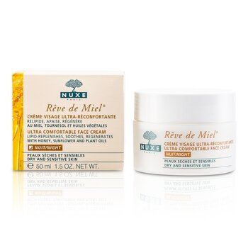 Reve De Miel Ultra Comfortable Face Night Cream (Dry & Sensitive Skin)  50ml/1.7oz