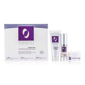 Osmotics Kit Micro Peel Skin Resurfacing System: Mascara exfoliante Charcoal 50ml/1.7oz + Creme Collagen Boosting Micro Peel 15ml/0.5oz + Creme  Protective Barrier 15ml/0.5oz  3pcs
