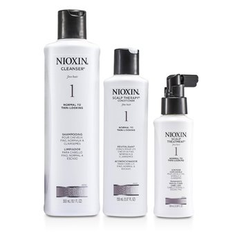 System 1 Starter Kit For Fine Hair, Normal to Thin-Looking Hair: Cleanser 300ml + Scalp Therapy Conditioner 150ml + Scalp Treatment 100ml  3pcs