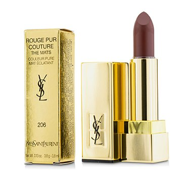 Yves Saint Laurent Rouge Pur Couture The Mats - Pintalabios Pintalabios # 206 Grenat Satisfaction  3.8g/0.13oz
