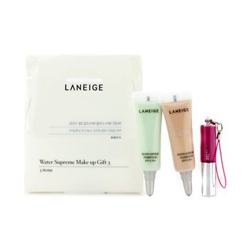 Laneige Kit de Maquiagem Water Supreme Make Up Gift 3: 1x Mini Brilho Labial, 1x Mini Base SPF 15, 1x Base Prime SPF 15  3pcs