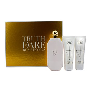 Madonna Estuche Truth Or Dare: Eau De Parfum Spray 75ml/2.5oz + Loci�n Corporal 75ml/2.5oz + Gel de Ducha 75ml/2.5oz  3pcs