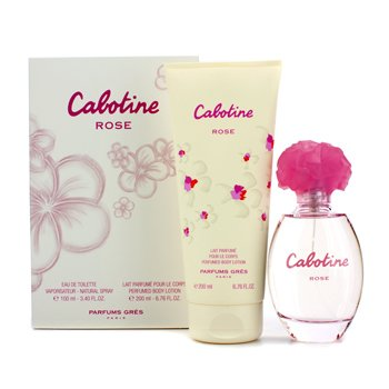 Estuche Cabotine Rose: Eau De Toilette Spray 100ml/3.4oz + Loción Corporal Perfumada 200ml/6.76oz  2pcs