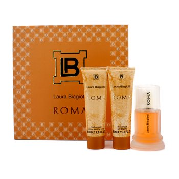 Laura Biagiotti Roma Coffret: toaletna voda u spreju 50ml/1.6oz + krema za tijelo 50ml/1.6oz + gel za tuširanje 50ml/1.6oz  3pcs