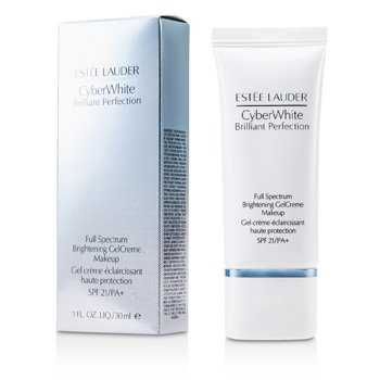 Estee Lauder Cyber White Brilliant Perfection Full Spectrum Brightening Gel Creme Makeup SPF 21 - # 04 Warm Vanilla  30ml/1oz