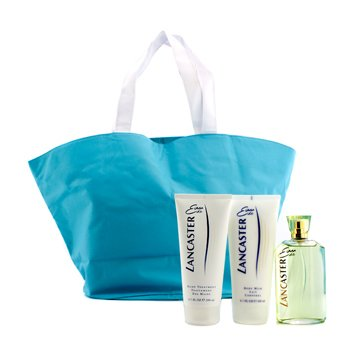 Lancaster Eau De Lancaster Estuche: Edt Spray 125ml/4.2oz + Leche Corporal 200ml/6.7oz + Tratamiento de Manos 200ml/6.7oz + Bolsa de Mano  3pcs+1bag