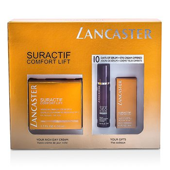 Lancaster Suractif Comfort Lift Set: Conform Crema Enriquecida 50ml + Intense Serum 10ml + Crema Ojos 3ml  3pcs