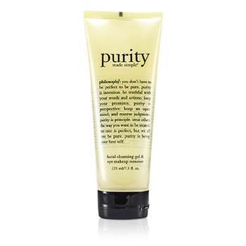 Philosophy Purity Made Simple Gel Limpiador Facial y Desmaquillador Ojos  225ml/7.5oz