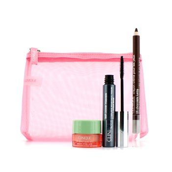 Clinique Set Power Lashesx Máscara: 1x Lash Power Máscara, 1x All About Eyes Rich, 1x Crema Remodeladora de Ojos, 1x Bolsa  3pcs+1bag