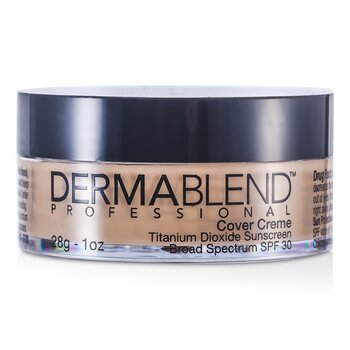 Dermablend Cover Creme Broad Spectrum SPF 30 (High Color Coverage) - Alas Bedak - Natural Beige  28g/1oz